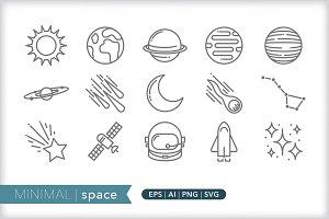 Minimal space icons