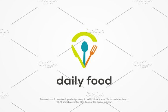 Daily Food Logo template