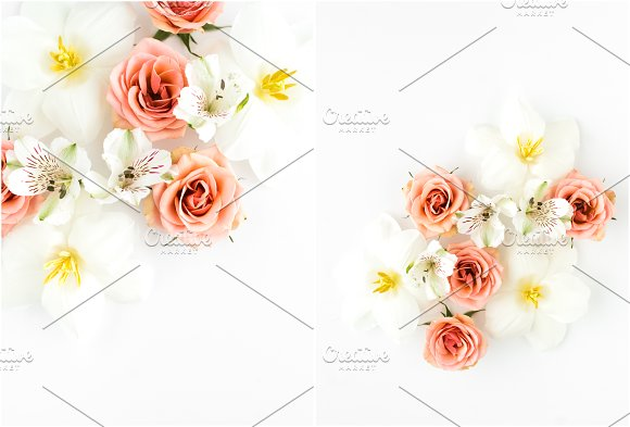 Spring Wedding Flower Styled Flatlay