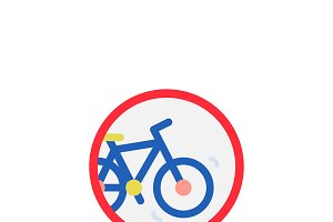 Illustration bicycle icon