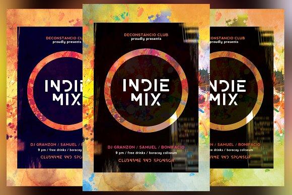 Indie Mix Flyer