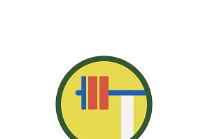 Illustration of weightlifting icon