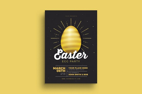 Easter Gold Party Flyer