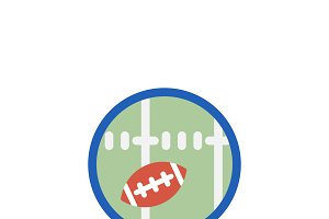 Illustration of american football
