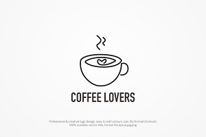 Coffee Lover logo template