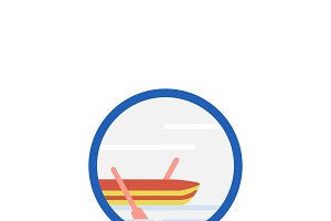 Illustration of sailing boat icon