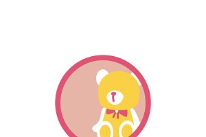 Illustration of stuffed toy icon