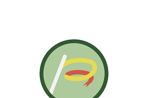 Illustration of ribbon stick icon