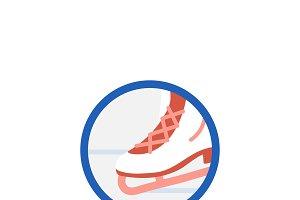 Illustration of ice skating icon