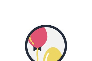 Illustration of party balloons icon