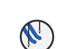 Illustration of skiing icon
