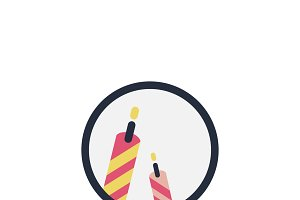 Illustration of birthday candles