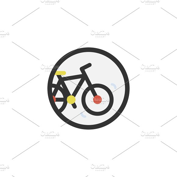 Illustration of cycling icon
