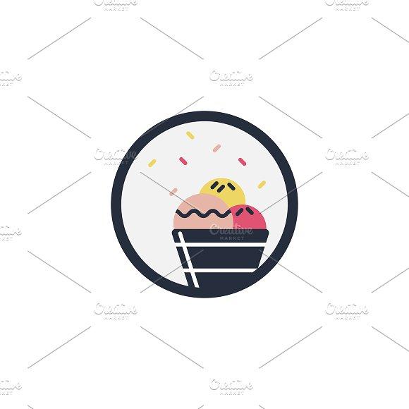 Illustration of cupcake icon