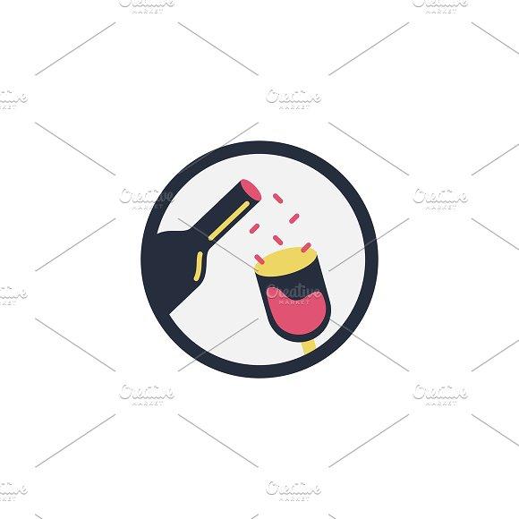 Illustration of glass of wine