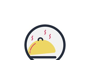 Illustration of cooked food icon