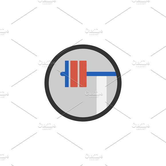 Illustration of weightlifting icon in Illustrations