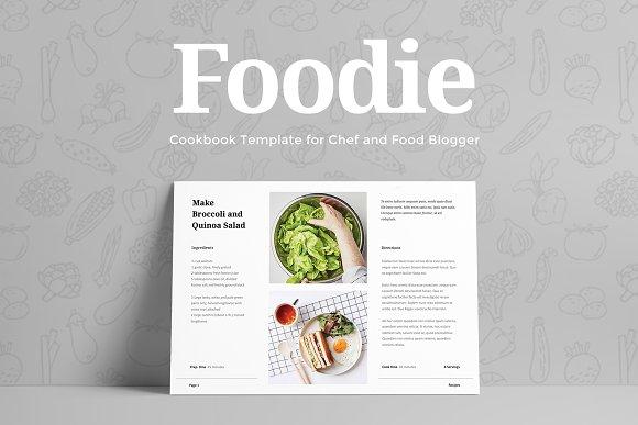 foodie cookbook template presentation templates creative market