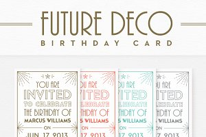 FutureDeco Birthday Card