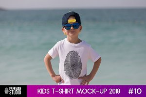 Kids T-Shirt Mock-Up 2018 #10