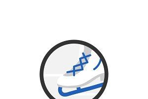 Illustration of ice skating shoe