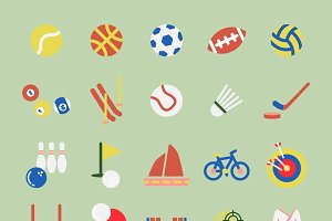 Illustration set of sports