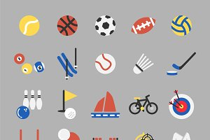 Illustration set of sports icons