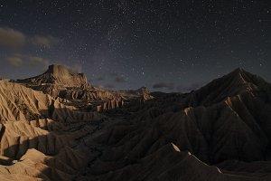 Bardenas at night