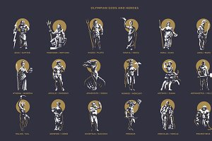 Olympic gods and heroes.