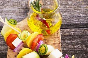 Light summer appetizer with vegetabl