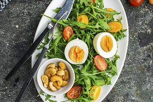Easter spring salad with fresh veget