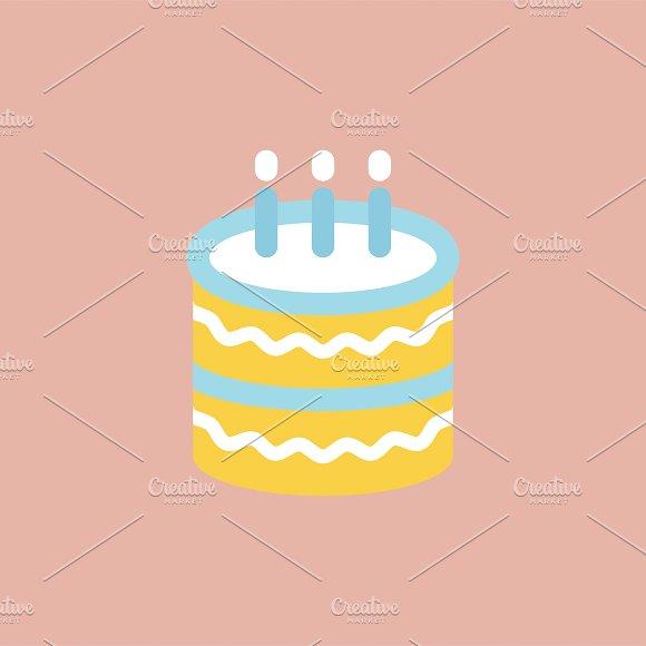 Illustration Of Birthday Cake Icon