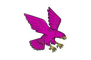 Peregrine Falcon Swoop Mono Line