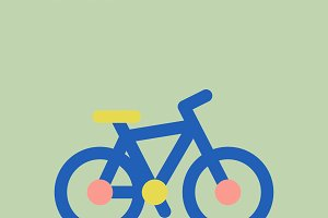 Illustration of bicycle icon