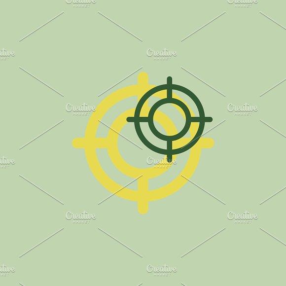 Illustration Of Crosshair Icon
