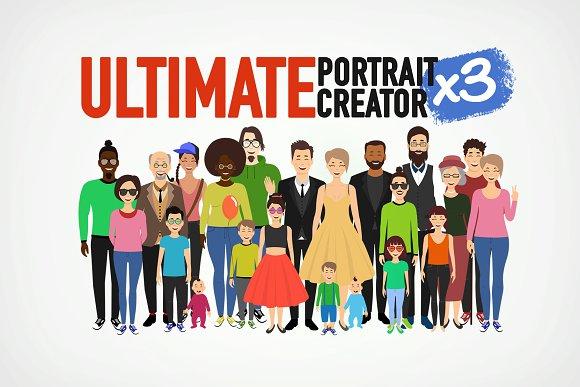 Ultimate Portrait Creator x3 in Illustrations