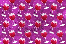 Wine Love Seamless pattern