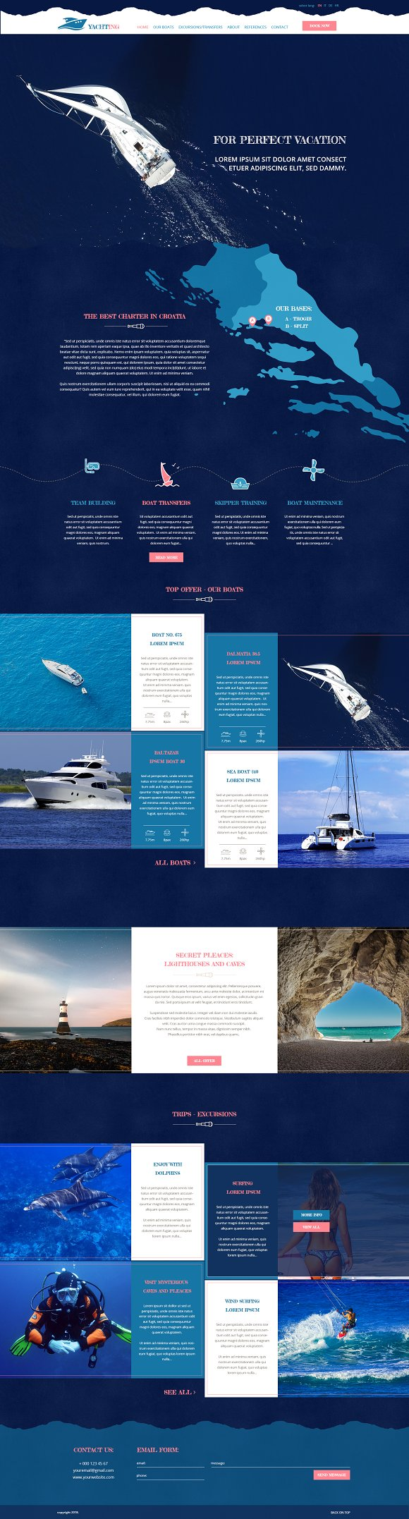 Yachting PSD Theme