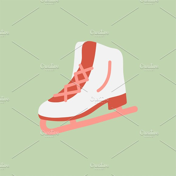 Illustration Of Ice Skating Shoes