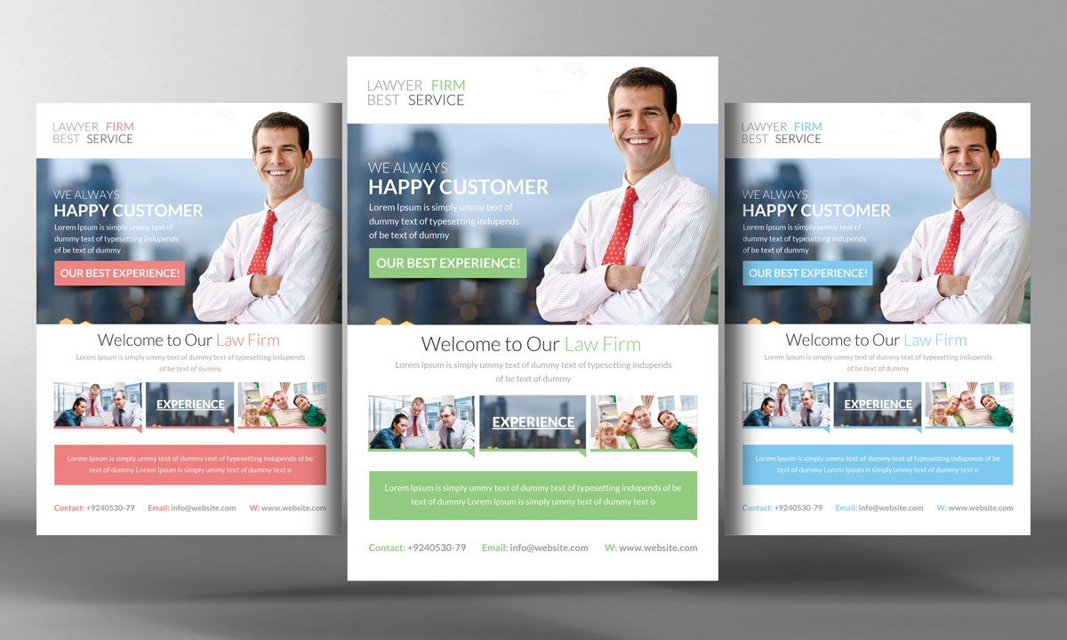 lawyer firm flyer flyer templates creative market