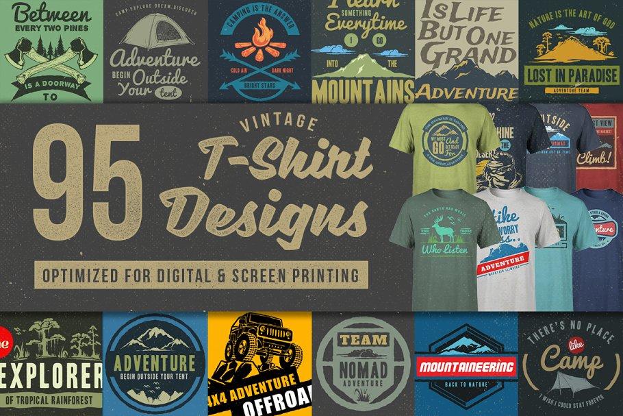 df10dc13 95 T-Shirt Designs ~ Illustrations ~ Creative Market