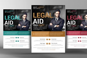 Lawyer Firm Business Flyer Template