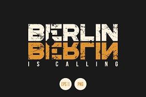Berlin vector textured design