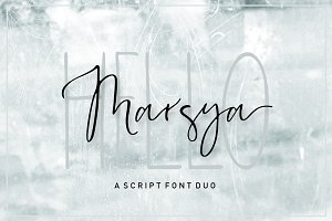 Marsya Script Font Duo