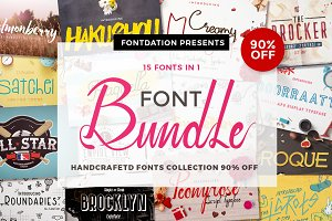 Handcrafted Font Collection