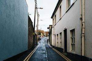 Alley in small town in Ireland