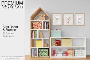 Kids Room - Wall & 90 Frames