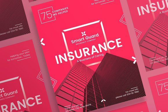 Posters insurance company flyer templates creative market posters insurance company flyers accmission Gallery