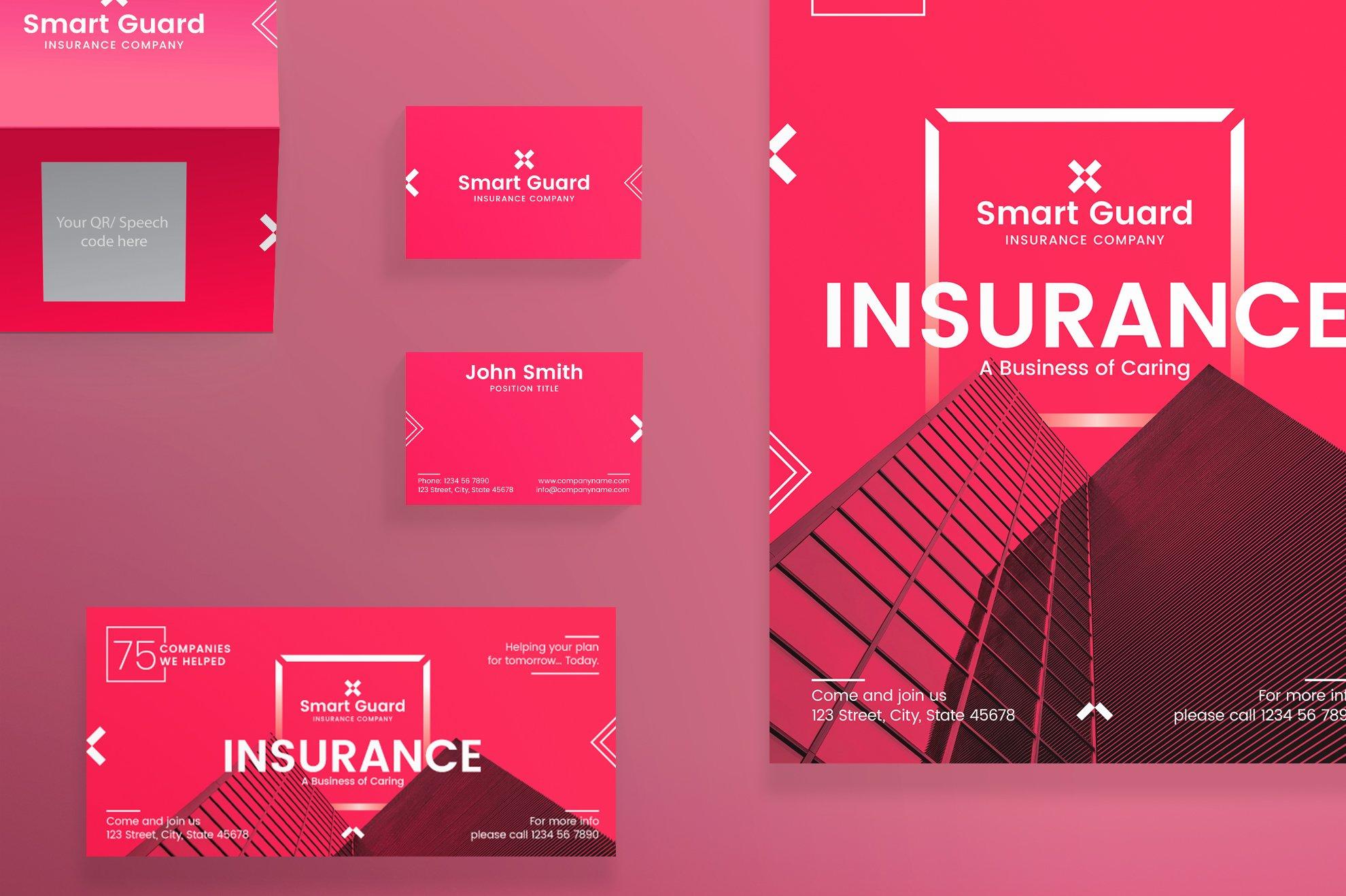 Print pack insurance company templates creative market altavistaventures Image collections