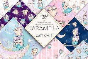 Cute Owls Patterns